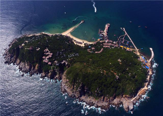 俯瞰海南分界洲島