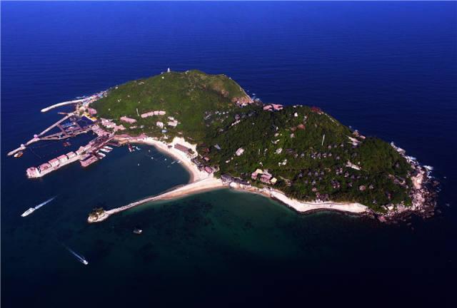 俯瞰海南分界洲岛